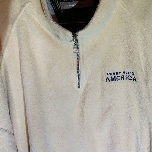 A soft, warm, fleece in white or maybe off white.